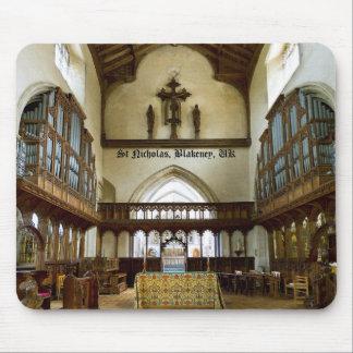 Iglesia de San Nicolás mousepad de Blakeney Reino Alfombrillas De Raton