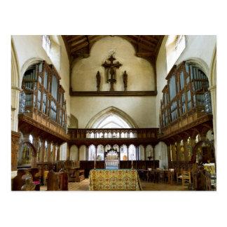 Iglesia de San Nicolás, postal de Blakeney Reino