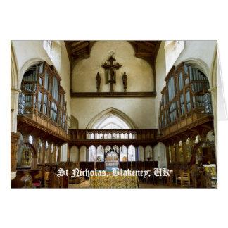 Iglesia de San Nicolás tarjeta en blanco BRITÁNIC