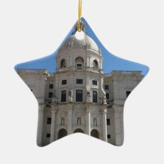 Iglesia de Santa Engracia o panteón nacional Adorno Navideño De Cerámica En Forma De Estrella