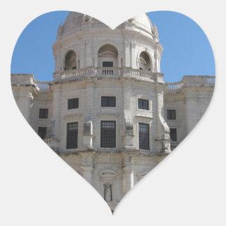 Iglesia de Santa Engracia o panteón nacional Pegatina En Forma De Corazón
