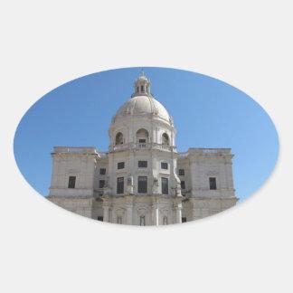 Iglesia de Santa Engracia o panteón nacional Pegatina Ovalada