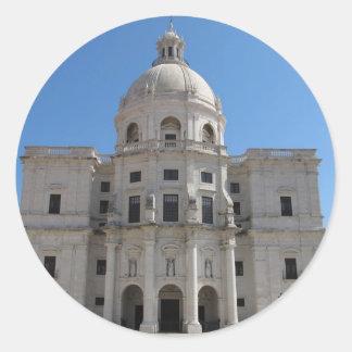 Iglesia de Santa Engracia o panteón nacional Pegatina Redonda