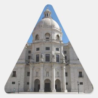 Iglesia de Santa Engracia o panteón nacional Pegatina Triangular