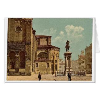 Iglesia de Santi Juan e Pablo y estatua de Bartol Tarjetón