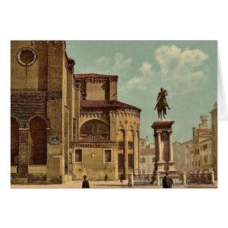 Iglesia de Santi Juan e Pablo y estatua de Bartol Tarjeta