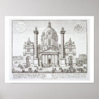 Iglesia de St Charles Borromeo (1538-84), Viena, Poster