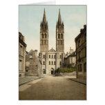 Iglesia de St. Etienne, Caen, Francia Felicitaciones