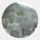 Iglesia de St.Kevins, Glendalough, Co.Wicklow, Pegatina Redonda