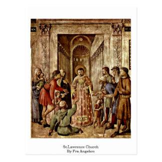 Iglesia de St.Lawrence por Fra Angelico Tarjetas Postales