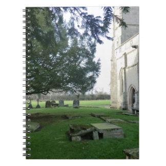 Iglesia de St Mary Magdalena, campo de batalla, Sh Libro De Apuntes Con Espiral