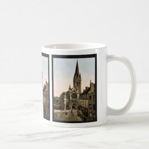 Iglesia de St Pierre, obra clásica Photochrom de C Taza Básica Blanca