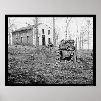 Iglesia de Sudley en el encierro, VA 1862 Impresiones