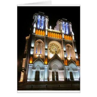 Iglesia de TheFlyingKiwi Notre Dame Tarjeta De Felicitación