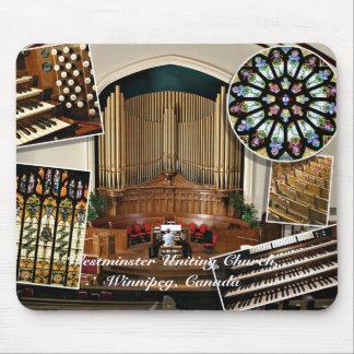 Iglesia de unión de Westminster, Winnipeg, Canadá Tapetes De Ratón
