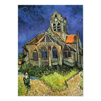 """Iglesia de Van Gogh en Auvers, arquitectura del Invitación 5"""" X 7"""""""