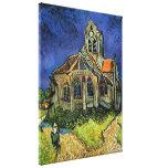 Iglesia de Van Gogh en Auvers, arquitectura del Impresión En Lona Estirada