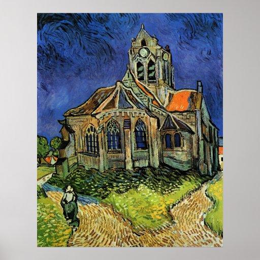 Iglesia de Van Gogh en Auvers, arquitectura del Poster