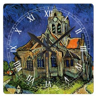 Iglesia de Van Gogh en Auvers, arquitectura del Reloj De Pared