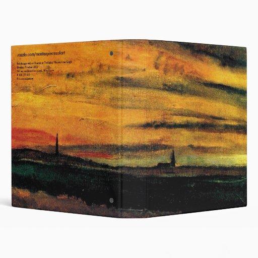 Iglesia de Van Gogh en la bella arte crepuscular d