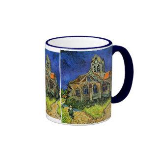 Iglesia de Van Gogh en la bella arte de Auvers Taza A Dos Colores