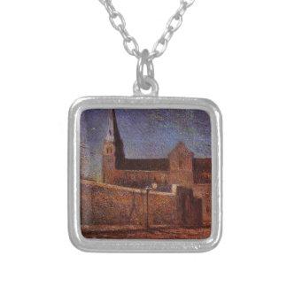 Iglesia de Vaugirard de Paul Gauguin Colgante Cuadrado