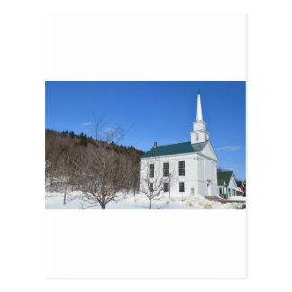 Iglesia de Vermont Tarjeta Postal