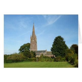 Iglesia de Weobley Tarjeta