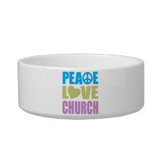 Iglesia del amor de la paz boles para gatos