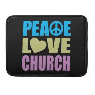 Iglesia del amor de la paz fundas para macbooks