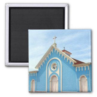 iglesia del azul del punta imán cuadrado