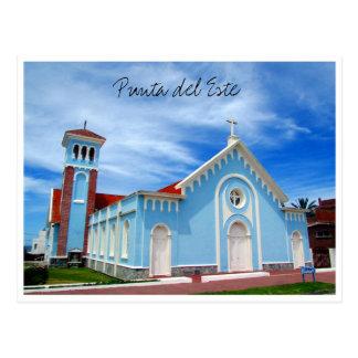 iglesia del azul del punta tarjetas postales