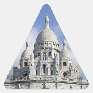Iglesia del corazón sagrado pegatina triangular