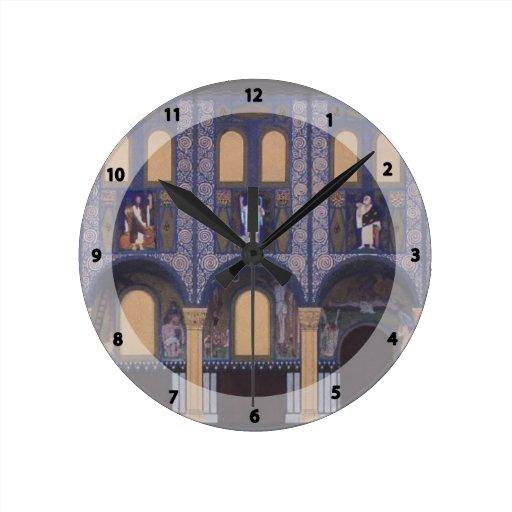 Iglesia del Espíritu Santo de Koloman Moser- en Dü Reloj De Pared