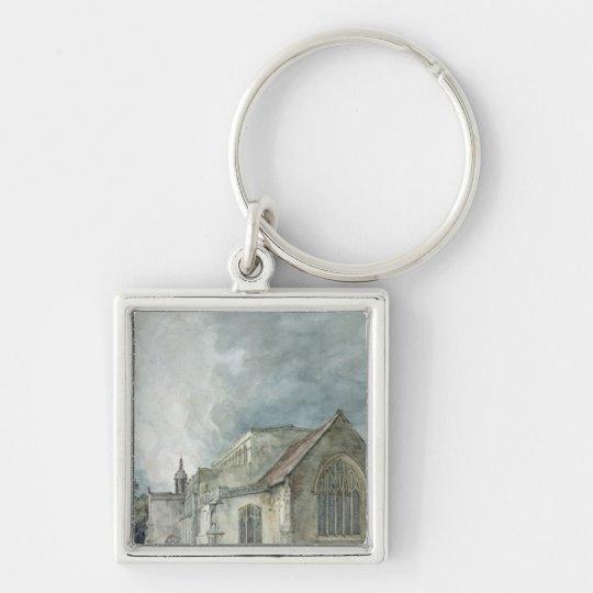 Iglesia del este de Bergholt, c.1805-11 Llavero Cuadrado Plateado