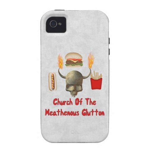 Iglesia del Glutton de Heathenous Vibe iPhone 4 Funda