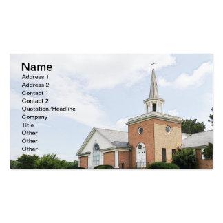 iglesia del ladrillo rojo en el país tarjetas de visita