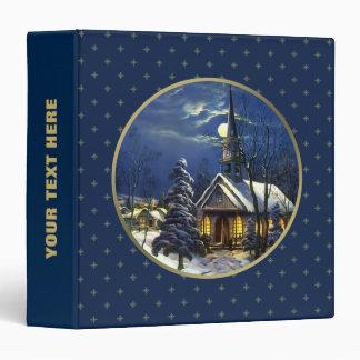 Iglesia del navidad del vintage Carpeta del regal