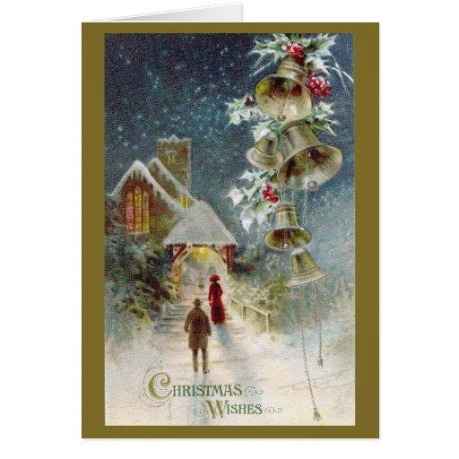 Iglesia del navidad y tarjeta de Belces
