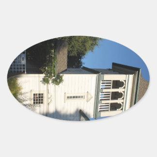 Iglesia del Nazarene Pegatina Ovalada
