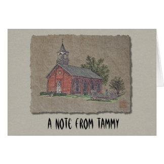 Iglesia del país del ladrillo tarjeta pequeña
