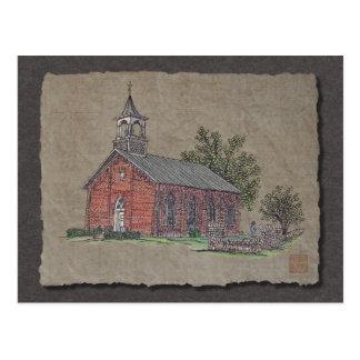 Iglesia del país del ladrillo tarjetas postales
