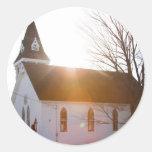 Iglesia del país pegatina redonda