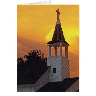 Iglesia del país tarjeta de felicitación