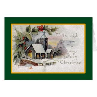 Iglesia del país - una tarjeta de Navidad del