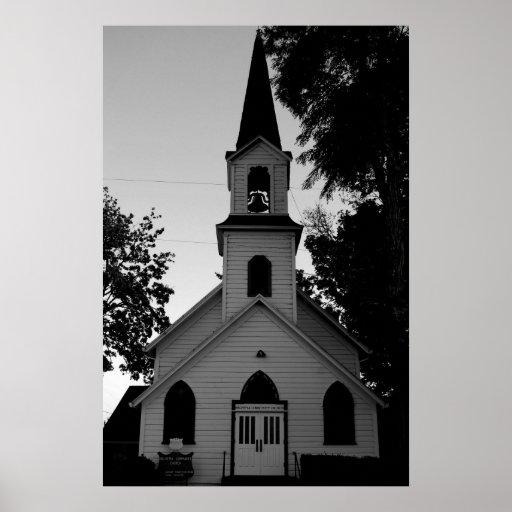 Iglesia del país viejo póster