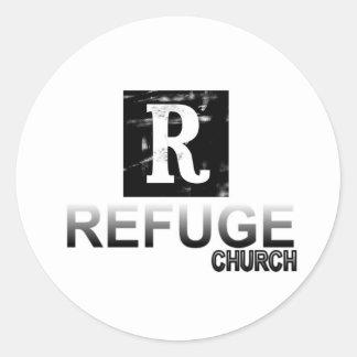 Iglesia del refugio pegatinas redondas