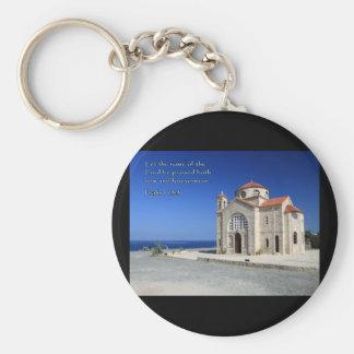 Iglesia del salmo 113-3 Chipre Llavero