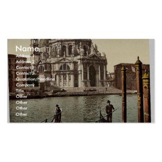 Iglesia del saludo, vintage Photochrom de Venecia, Plantillas De Tarjeta De Negocio
