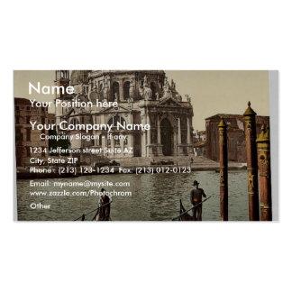 Iglesia del saludo, vintage Photochrom de Venecia, Plantilla De Tarjeta Personal